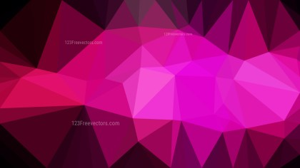 Cool Pink Low Poly Background Design