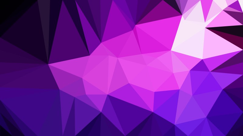 Cool Purple Polygonal Background Design Image