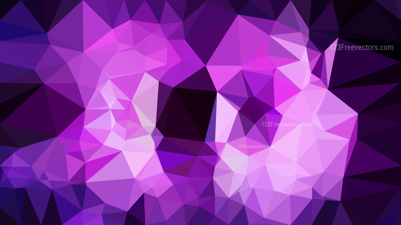 purple abstract geometric polygon background template