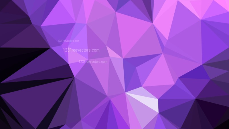 Cool Purple Low Poly Abstract Background Vector