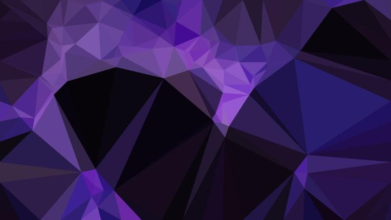 Cool Purple Triangle Geometric Background Illustration