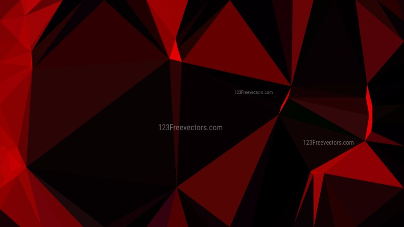 Cool Red Polygonal Triangular Background Vector Art