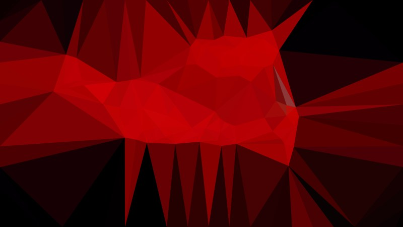 Cool Red Polygonal Abstract Background