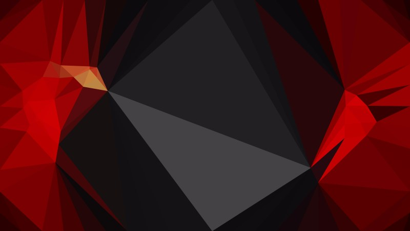 Cool Red Polygon Triangle Pattern Background