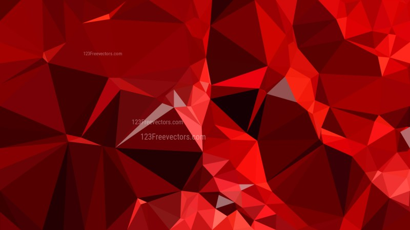 Abstract Cool Red Polygon Background Template Design