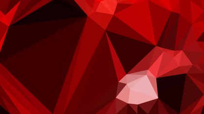 Abstract Cool Red Low Poly Background Template Vector Graphic