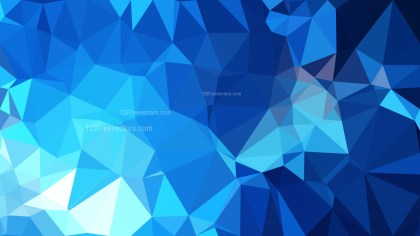 Abstract Dark Blue Polygon Triangle Background