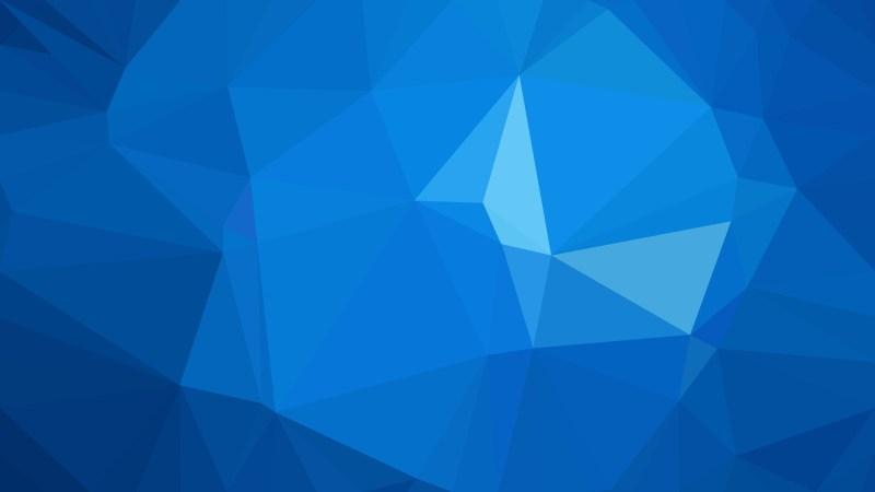 Dark Blue Polygonal Background Image
