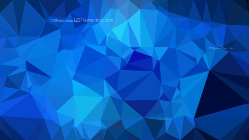 Dark Blue Polygon Background Vector