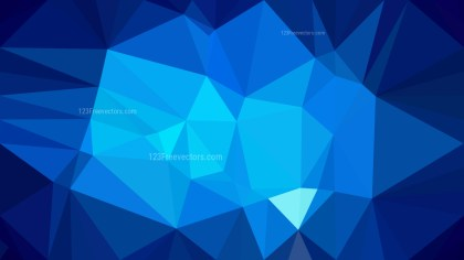Abstract Dark Blue Polygonal Background Design Vector Image