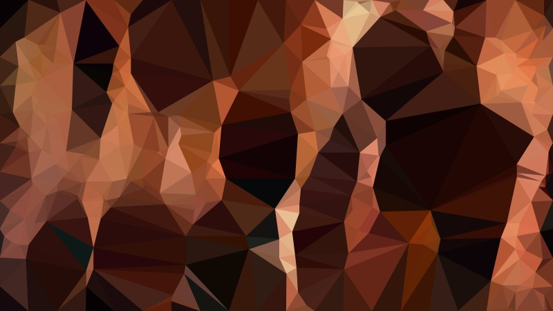 Abstract Dark Brown Polygonal Triangle Background Vector