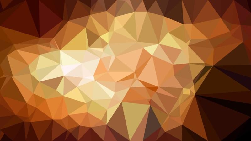Dark Brown Polygon Triangle Pattern Background Illustration