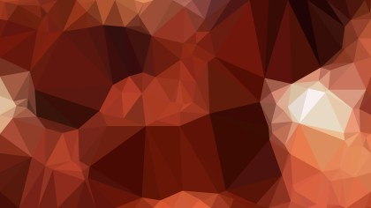 Dark Brown Polygon Background Template
