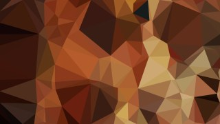 Abstract Dark Brown Polygonal Background