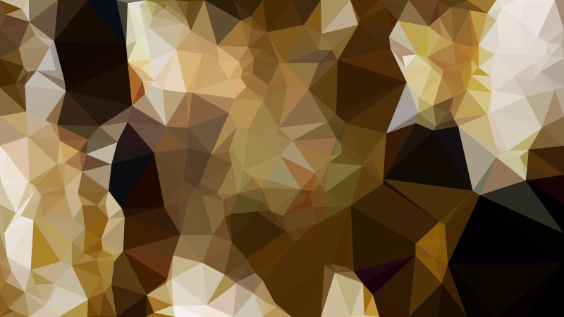 Abstract Dark Brown Low Poly Background