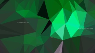 Dark Green Low Poly Abstract Background