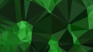 Abstract Dark Green Polygon Triangle Background
