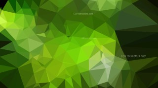 Abstract Dark Green Polygonal Triangle Background Illustrator