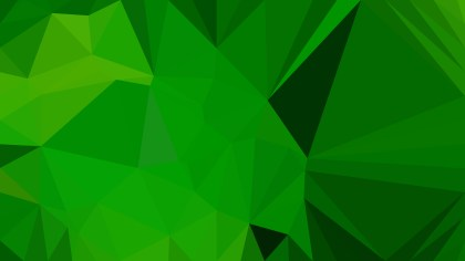 Dark Green Polygonal Background Design Illustration