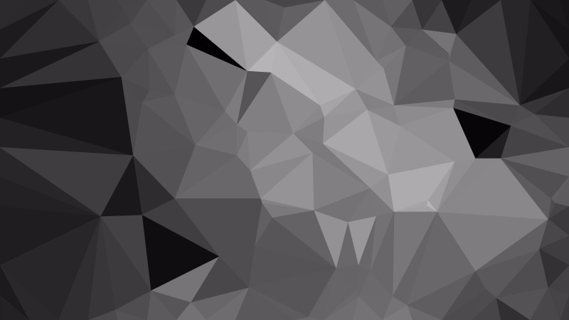 Dark Grey Low Poly Background Design