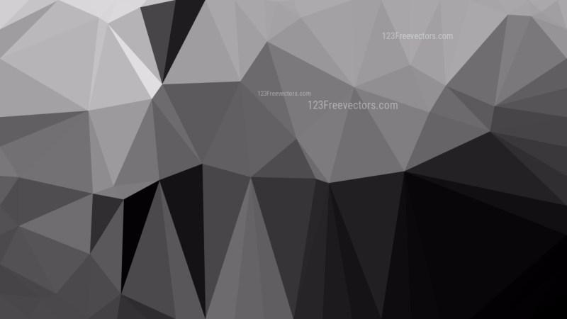 Dark Grey Polygonal Background Design