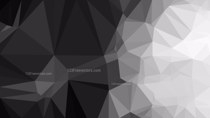 Abstract Dark Grey Low Poly Background Design