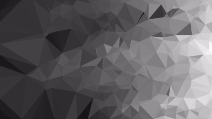 Dark Grey Polygon Background