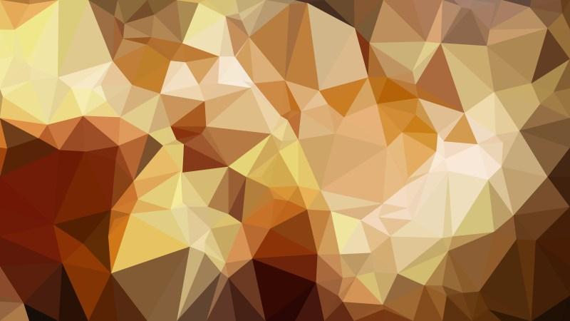 Dark Orange Polygonal Background Design
