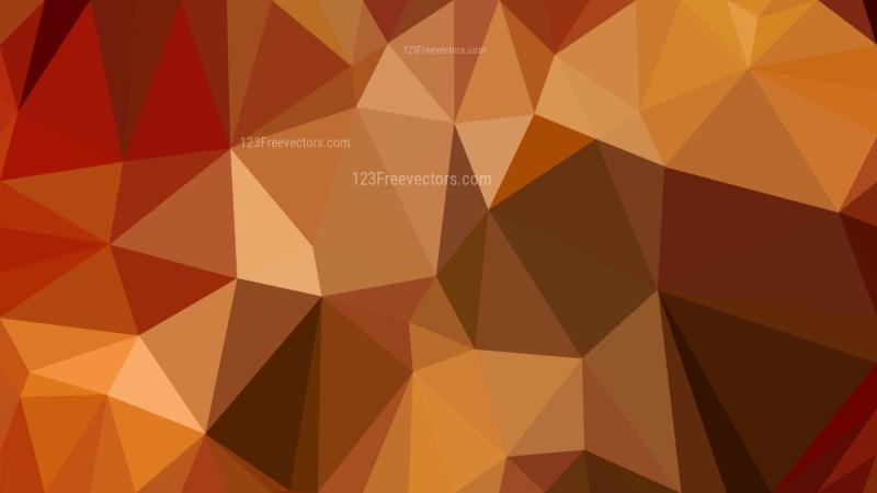 Dark Orange Geometric Polygon Background