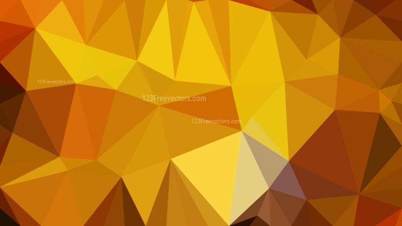 Dark Orange Polygon Pattern Abstract Background Vector Illustration