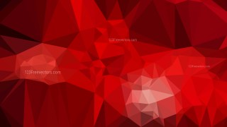 Abstract Dark Red Polygonal Background Template