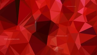 Abstract Dark Red Low Poly Background Template Design