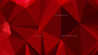 Abstract Dark Red Polygonal Background Template Vector Graphic