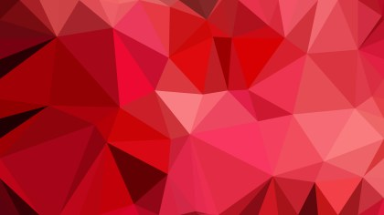 Dark Red Polygonal Background Design
