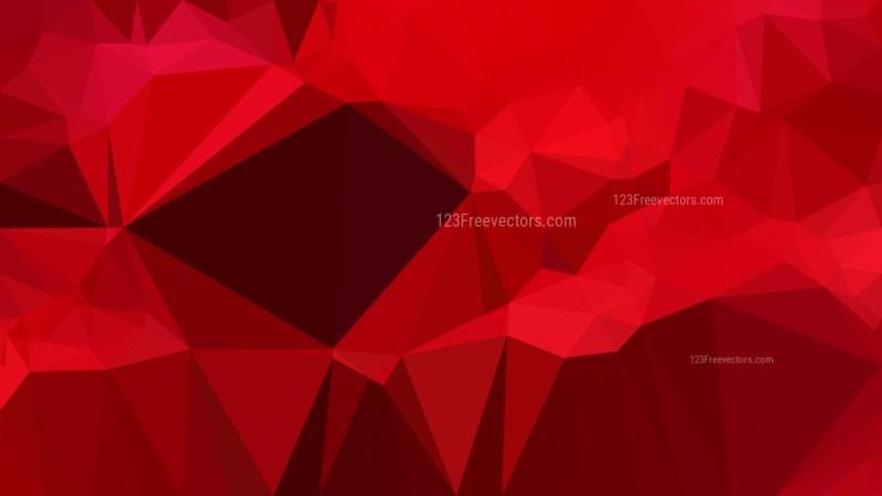 Dark Red Polygonal Abstract Background Design