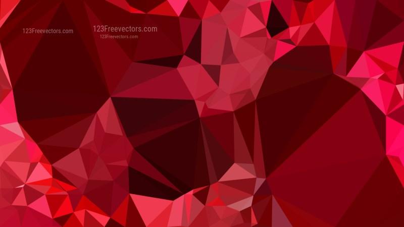 Dark Red Geometric Polygon Background