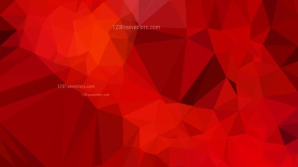 Dark Red Polygonal Triangle Background