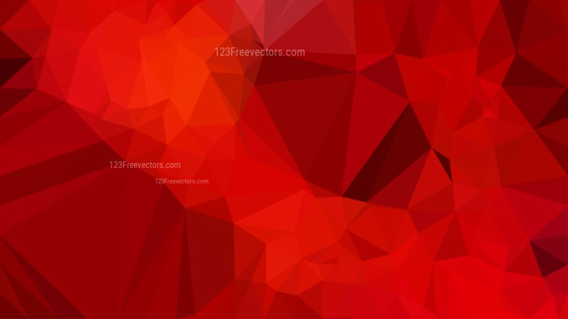 Dark Red Polygonal Triangle Background