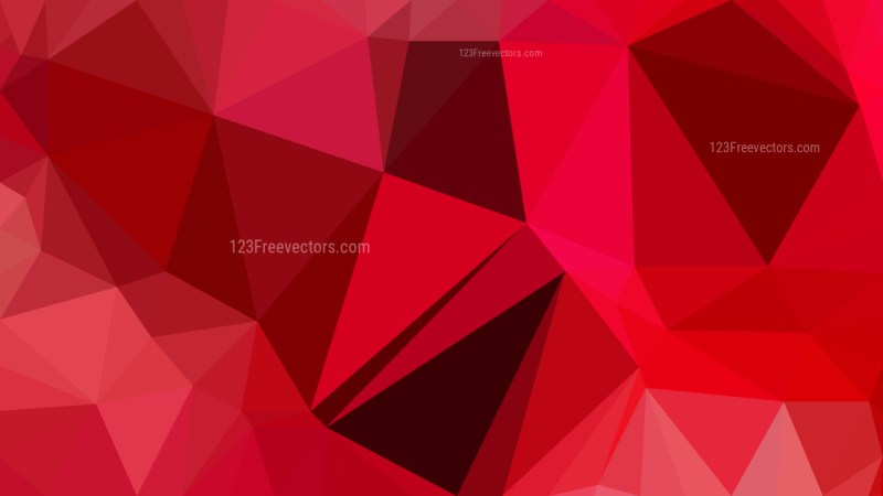 Dark Red Polygon Background Graphic