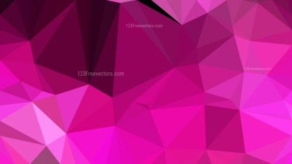Abstract Fuchsia Polygonal Triangle Background