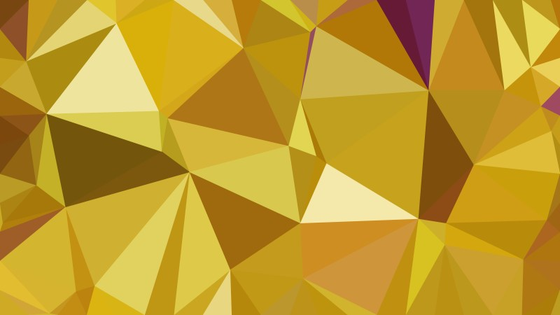 Gold Polygonal Background Template Illustrator