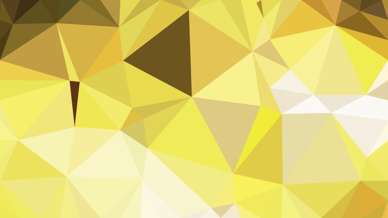 Gold Polygon Triangle Background Vector Illustration