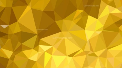 Abstract Gold Polygonal Triangle Background Vector