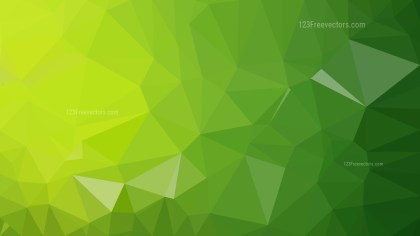 Green Polygonal Background Template