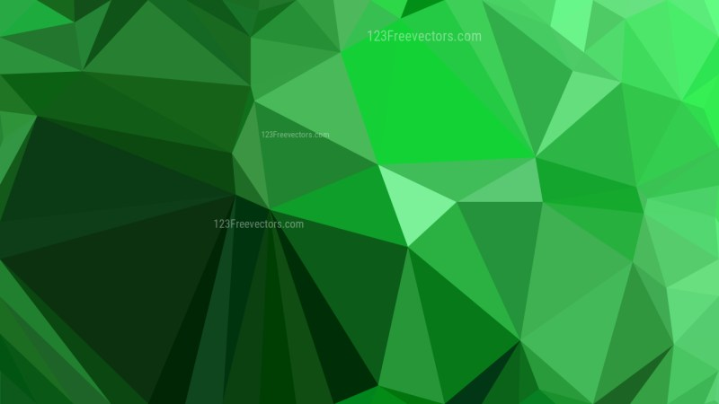 Green Polygonal Background Template Vector Graphic