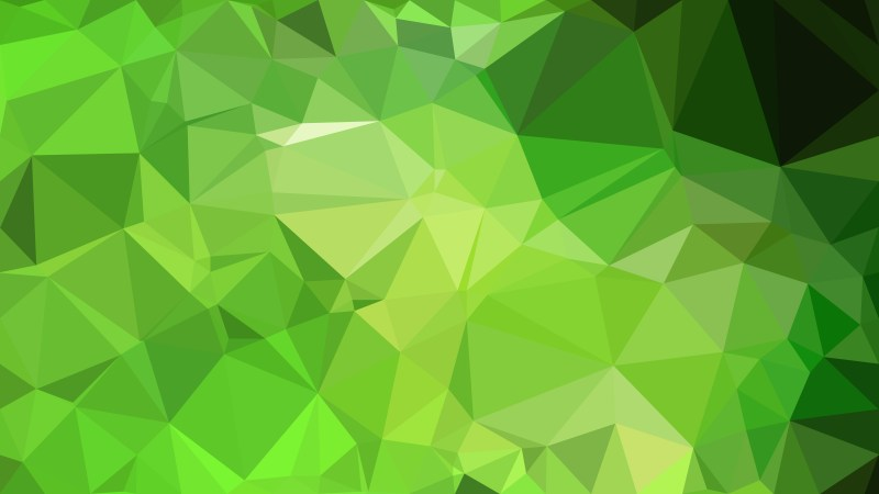 Green Polygon Background Design