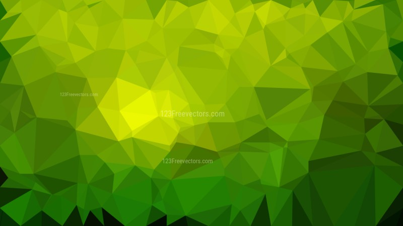 Green Polygonal Background Design