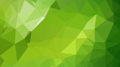 Green Polygon Background Design Vector