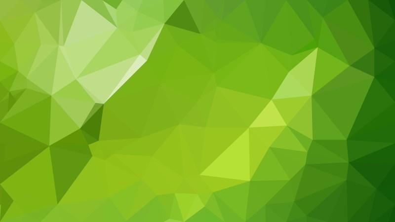 Green Polygon Background Design Vector