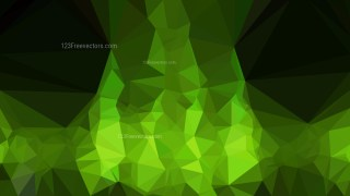 Green and Black Polygonal Abstract Background
